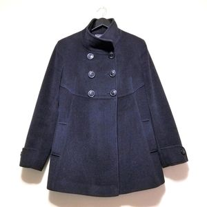 Holt Renfrew Angora Lambswool Pea Coat